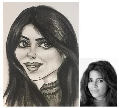 Anna caricature by caricature artist