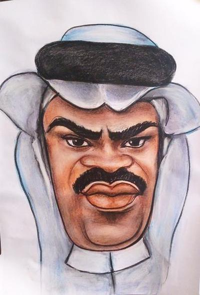 Arab's caricature from photo