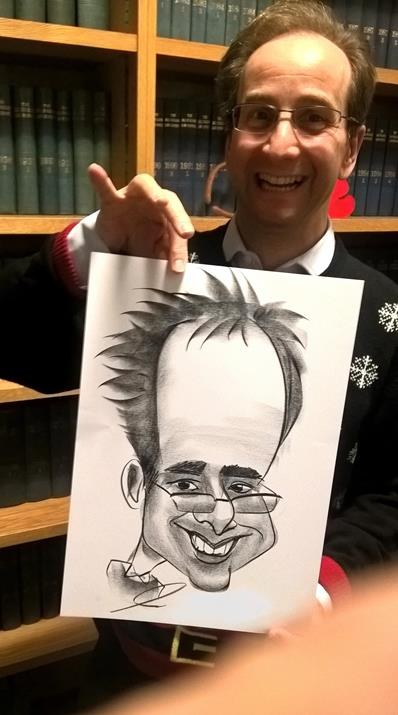 Scottish forehead caricature