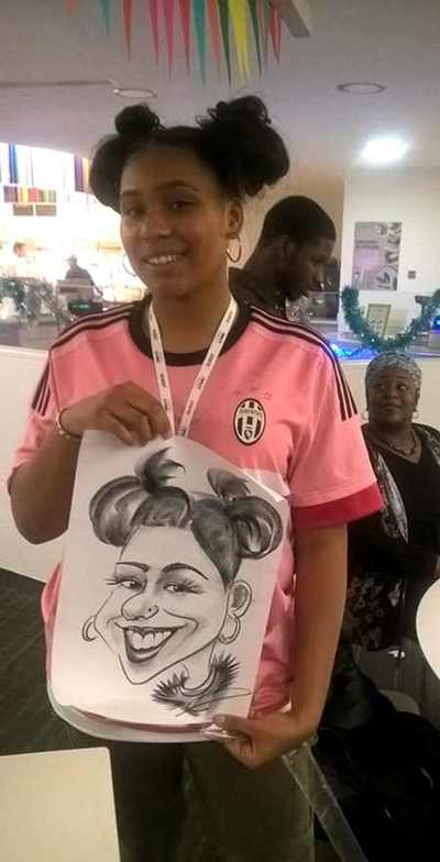 Black girl cartoonist