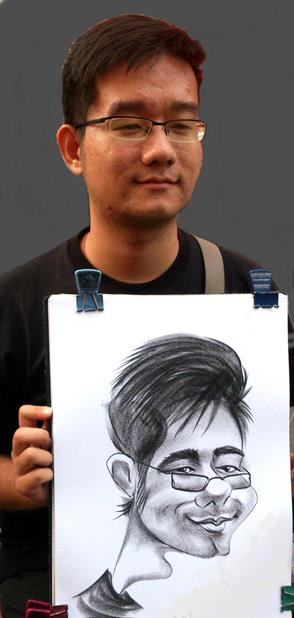 Boy caricature by Alex caricature artist