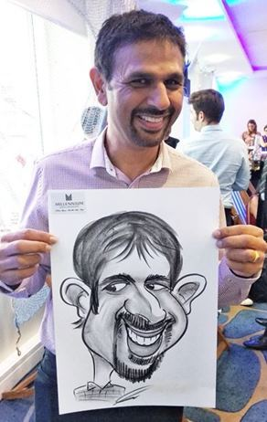 Caricature artist big ears