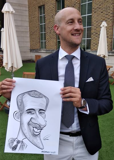 Caricature artist sharp chin