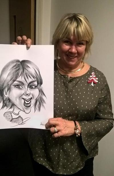 Caricature artist woman picture