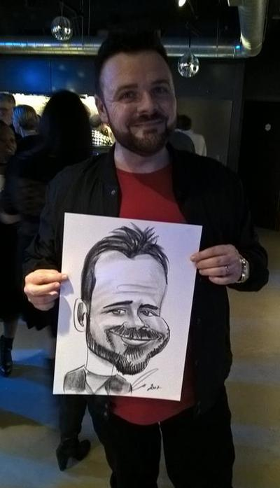 Caricaturist depicting the Beard