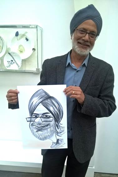 Caricaturist at Corporate party