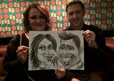 Caricaturist at Evening party