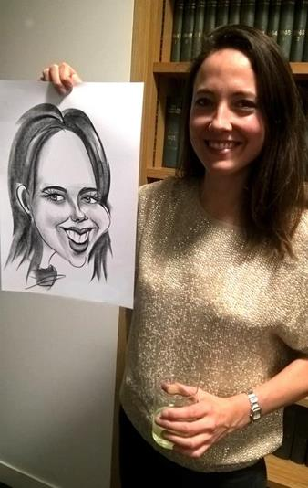 caricaturist girl with a big forehead