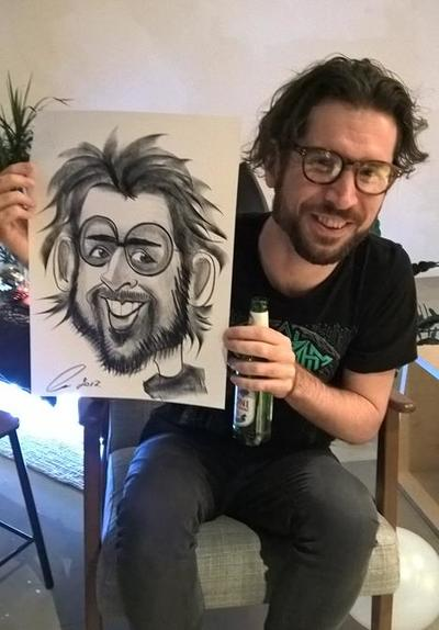 Alex Caricaturist Party Glasses and Beard