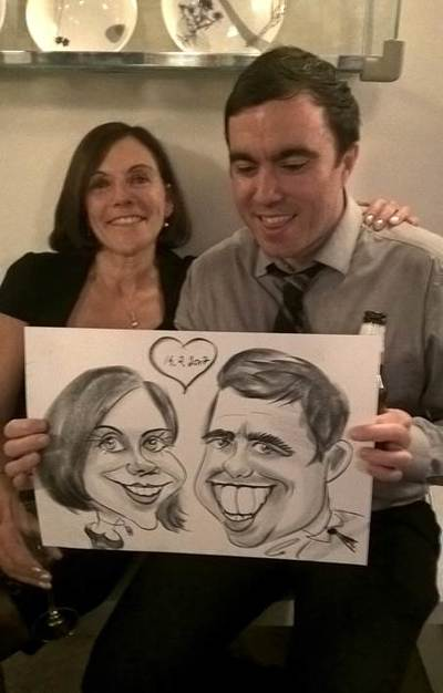 Caricaturist in Corporate party