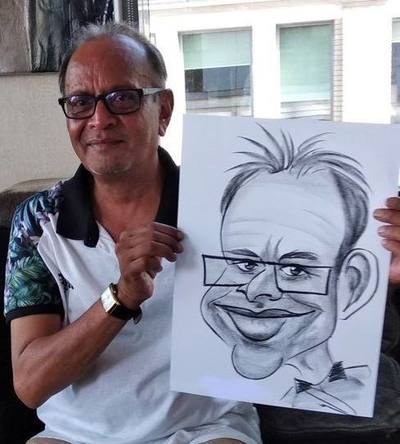 Caricaturist Indian birthday