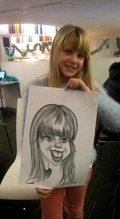 Caricature artist Christmas party