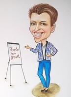 Price sample of Office caricature