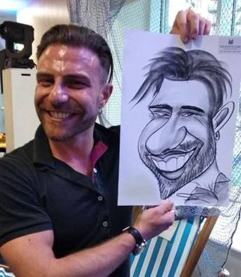 Caricaturist at Party