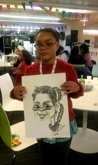 Caricaturist Girls cartoon