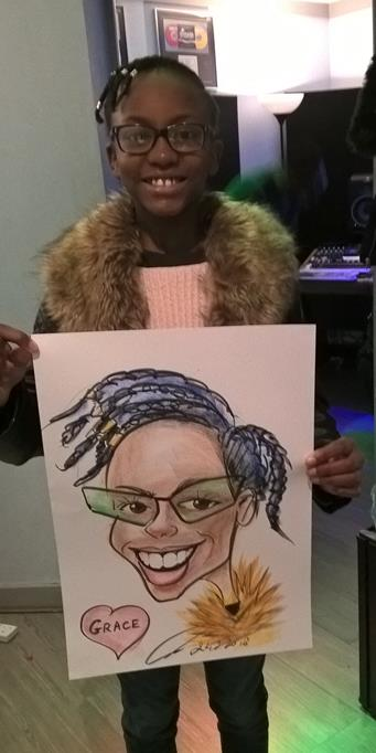 Hire children caricaturist