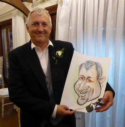 Hire wedding colour caricaturist