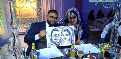 Indian wedding Caricature