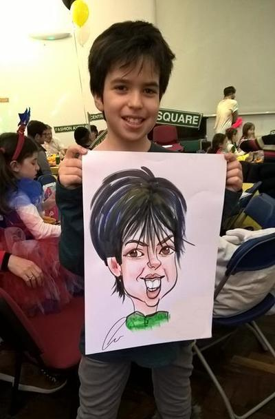 Kids colour caricatures