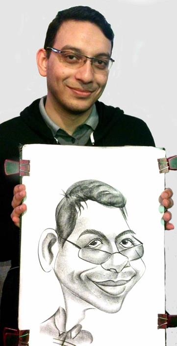 Man glasses caricature