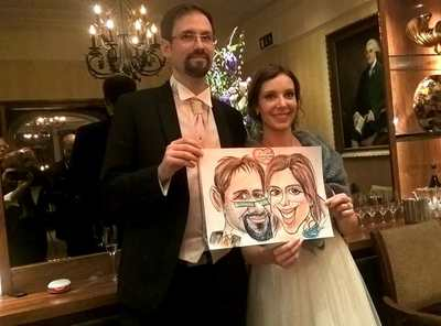 Caricaturist Alex Wedding colour